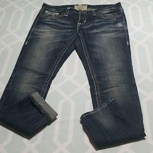 Big Star Jenae Skinny Cropped Jeans sz 29